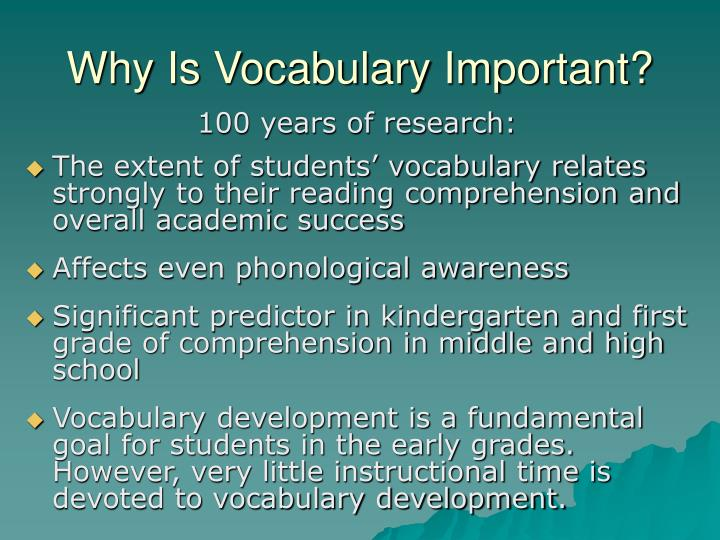 Why Is Vocabulary Important?
