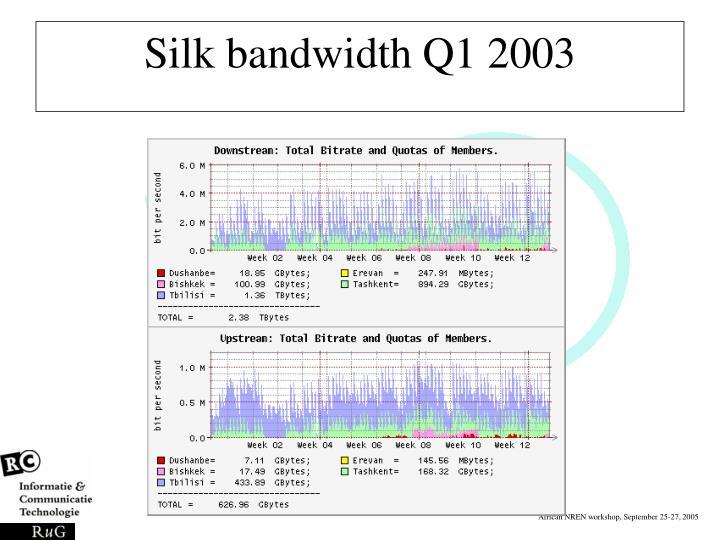 Silk bandwidth Q1 2003