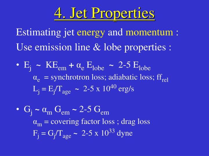 4. Jet Properties