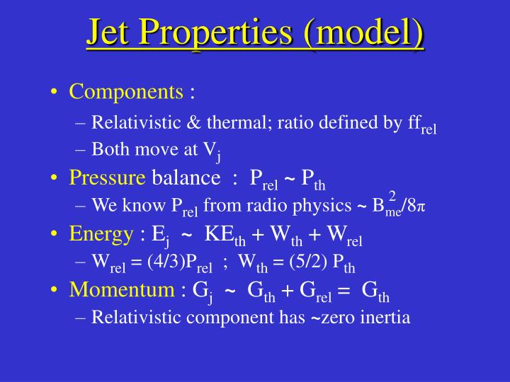 Jet Properties (model)