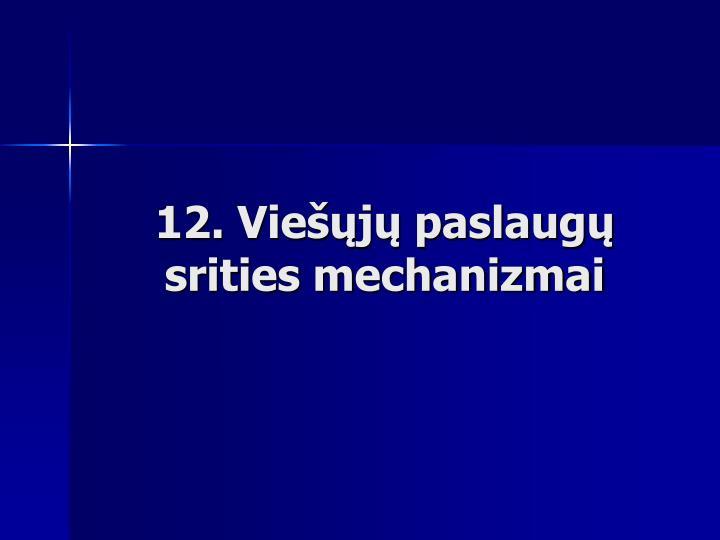 12. Viešųjų paslaugų srities mechanizmai