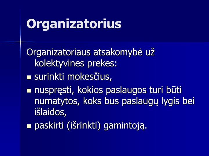 Organizatori
