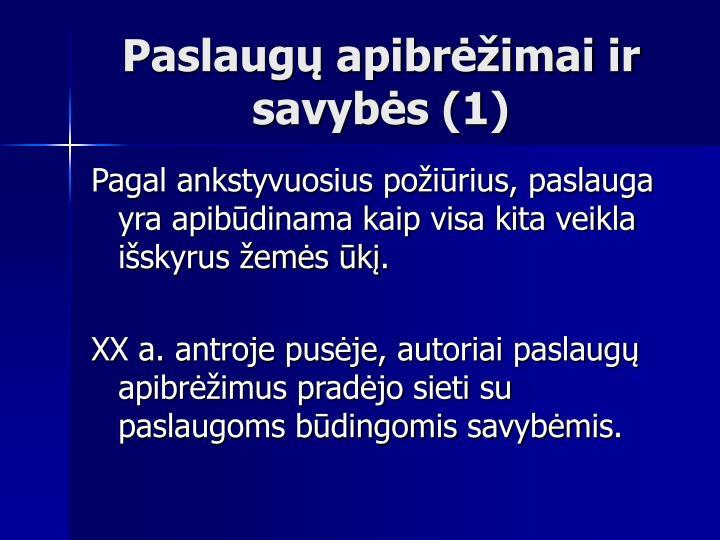 Paslaugų apibrėžimai ir savybės (1)