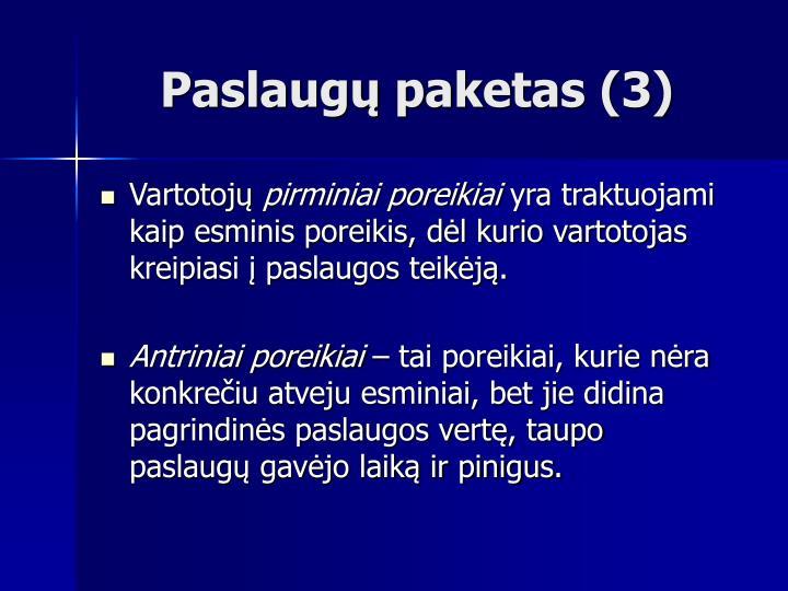Paslaugų paketas (3)