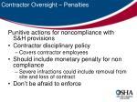 contractor oversight penalties