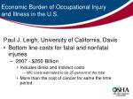 economic burden of occupational injury and illness in the u s