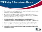 vpp policy procedures manual