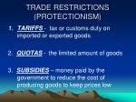 trade restrictions protectionism