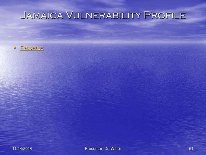 Jamaica Vulnerability Profile