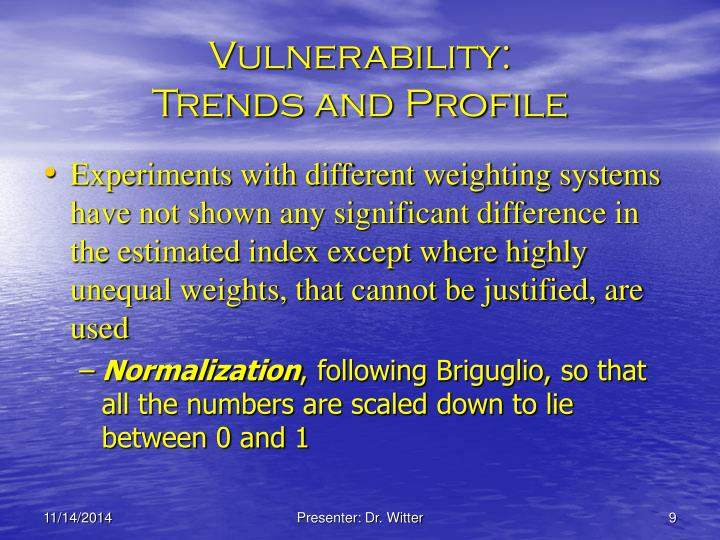 Vulnerability: