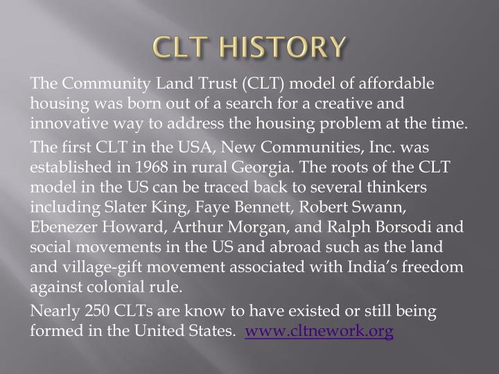 CLT HISTORY