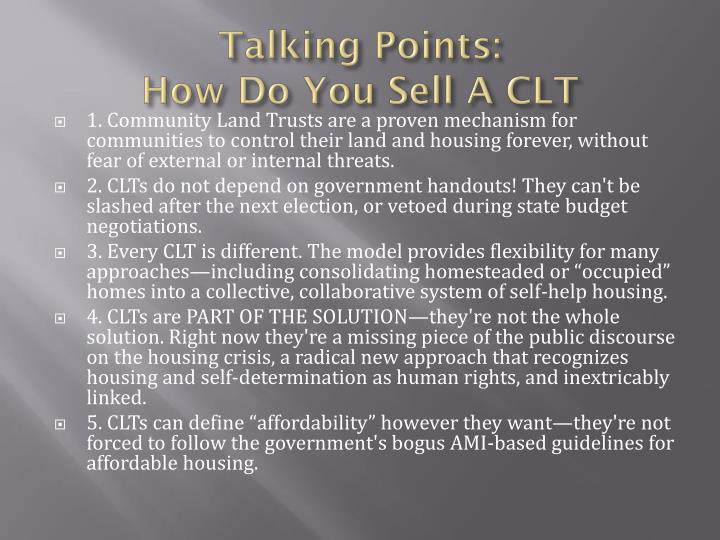 Talking Points: