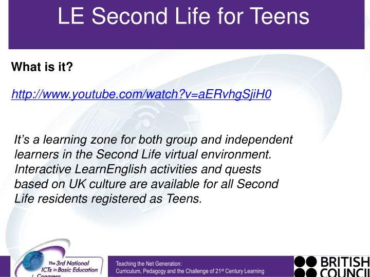 LE Second Life for Teens
