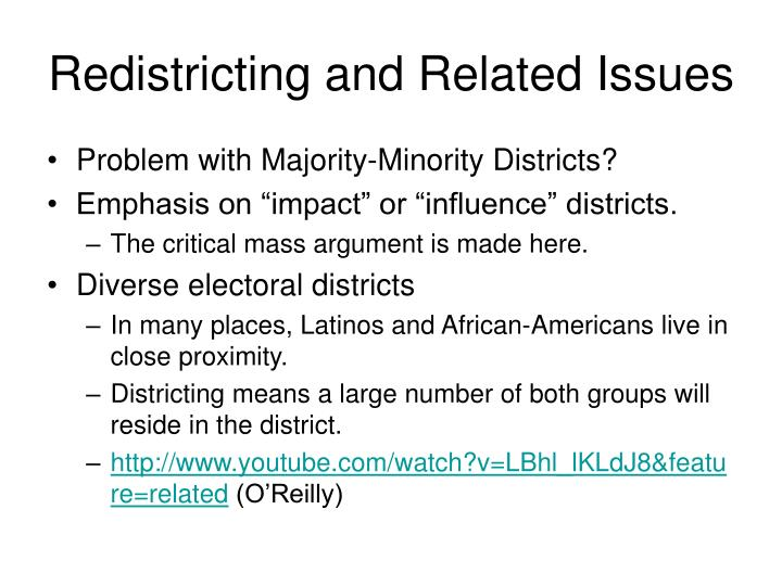 Redistricting and Related Issues