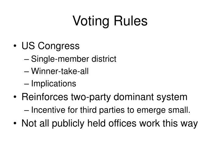 Voting Rules