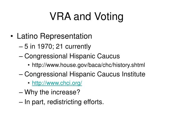 VRA and Voting