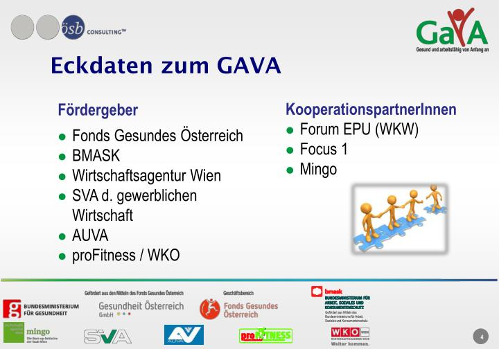 Eckdaten zum GAVA