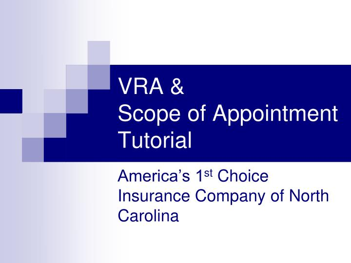 Vra scope of appointment tutorial