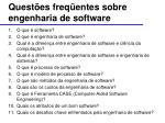 quest es freq entes sobre engenharia de software