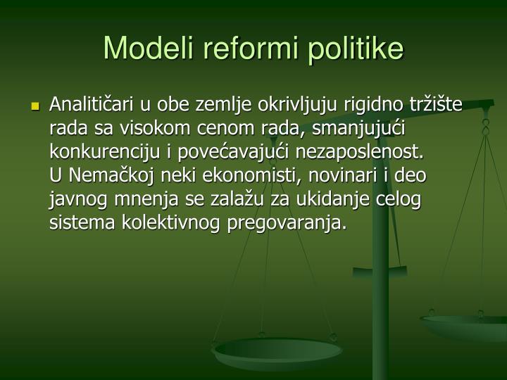 Modeli reformi politike