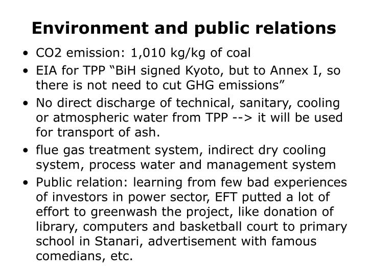 Environment and public relations