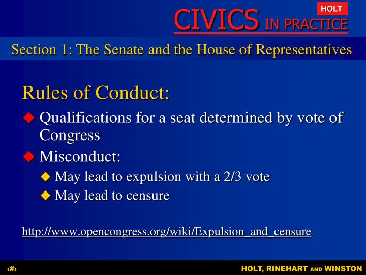 Section 1: The Senate and the House of Representatives