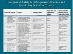 bangladesh safety net programs objective and beneficiary selection criteria4