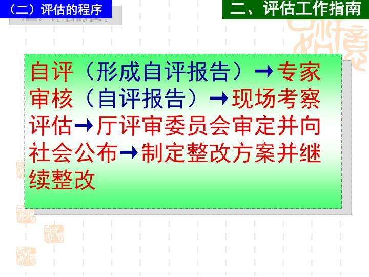 (二)评估的程序