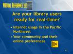 are your library users ready for real time