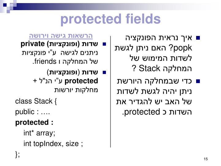 protected fields