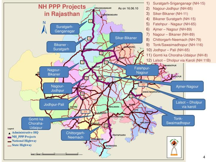 NH PPP Projects                in Rajasthan