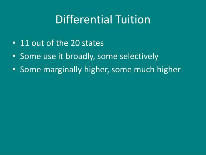 Differential Tuition