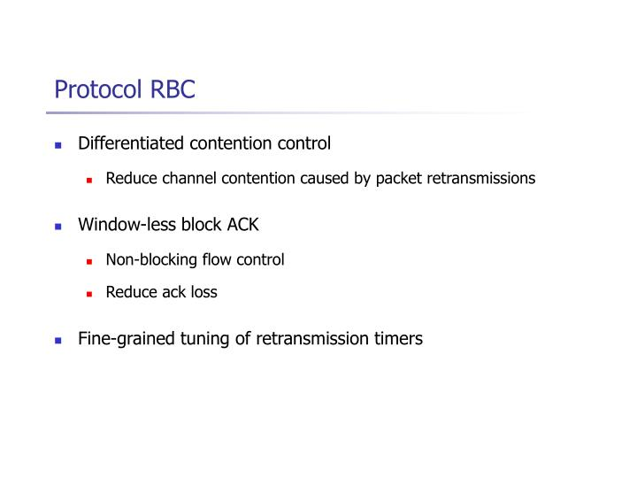 Protocol RBC