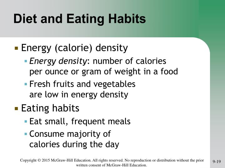 Diet and Eating Habits