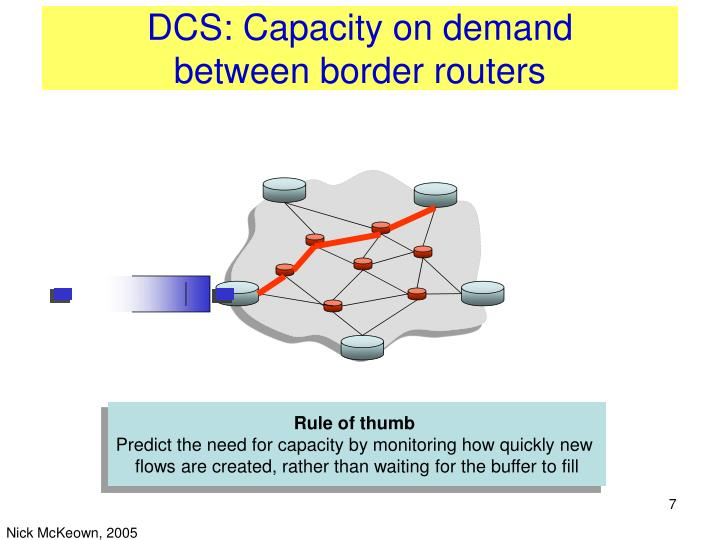 DCS: Capacity on demand