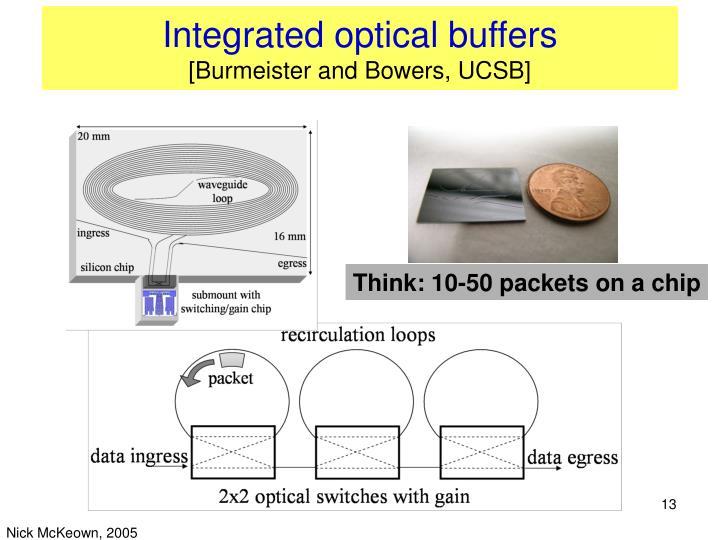 Integrated optical buffers