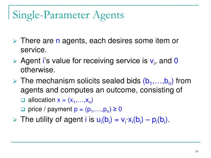 Single-Parameter Agents