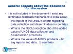 general aspects about the document for discussion1