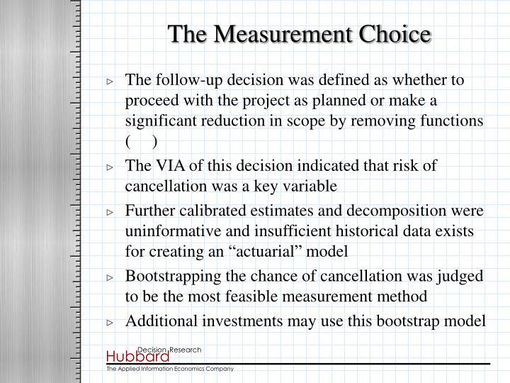 The measurement choice