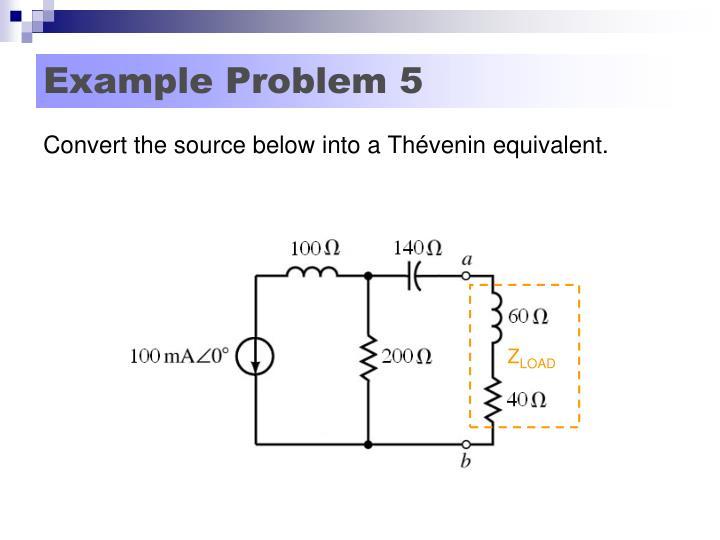 Example Problem 5