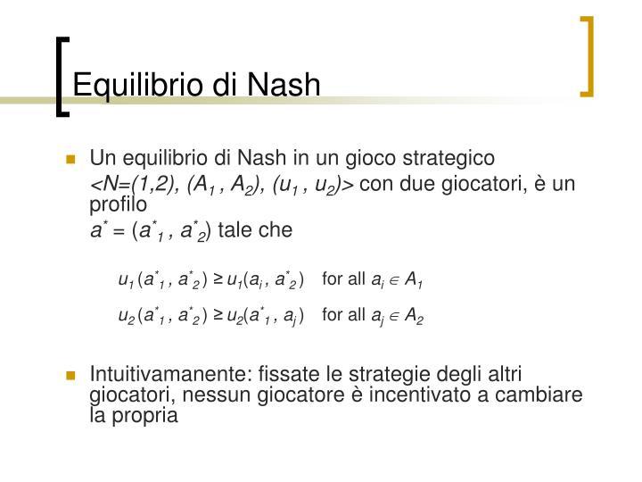 Equilibrio di Nash