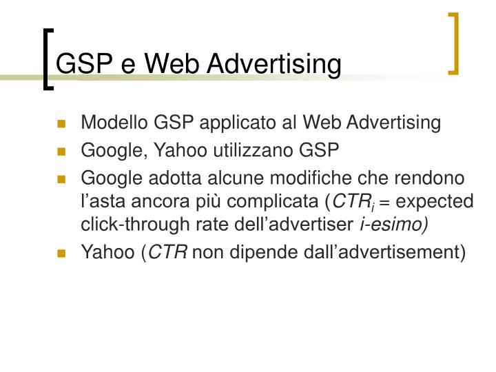 GSP e Web Advertising
