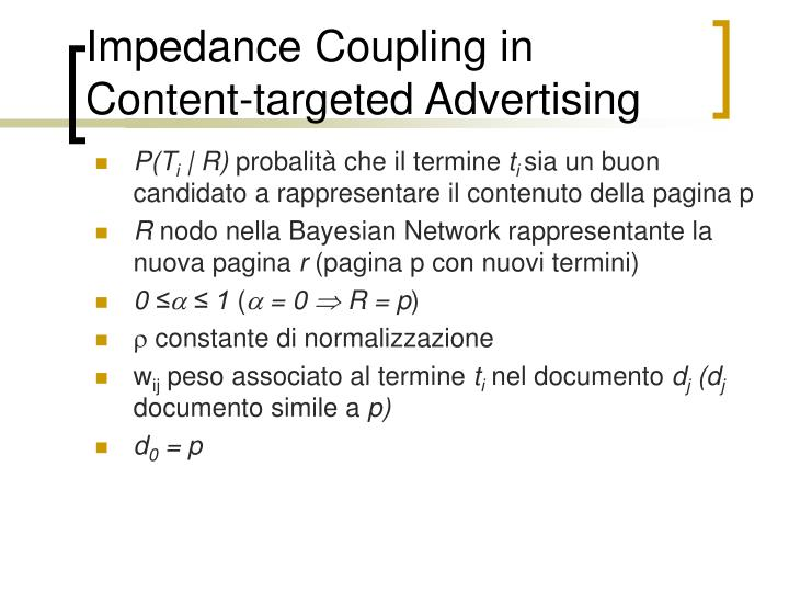 Impedance Coupling in Content-targeted Advertising