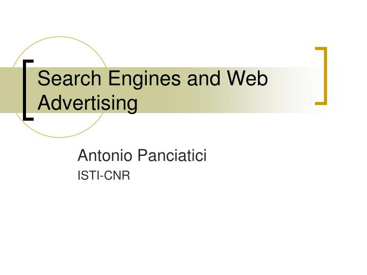 search engines and web advertising n.