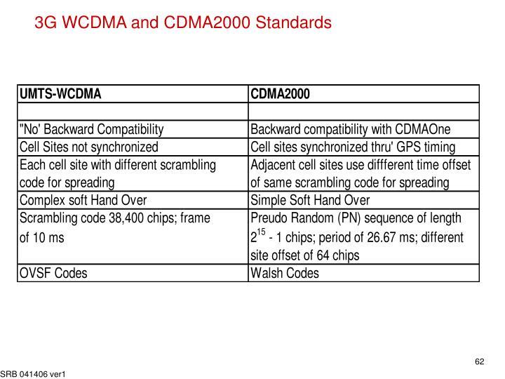 3G WCDMA and CDMA2000 Standards