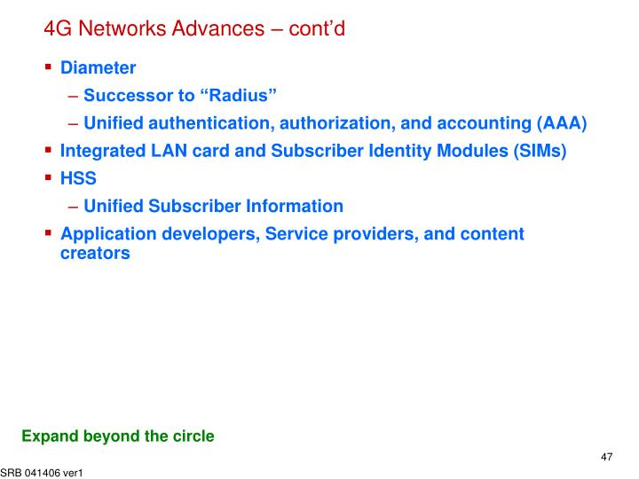 4G Networks Advances – cont'd