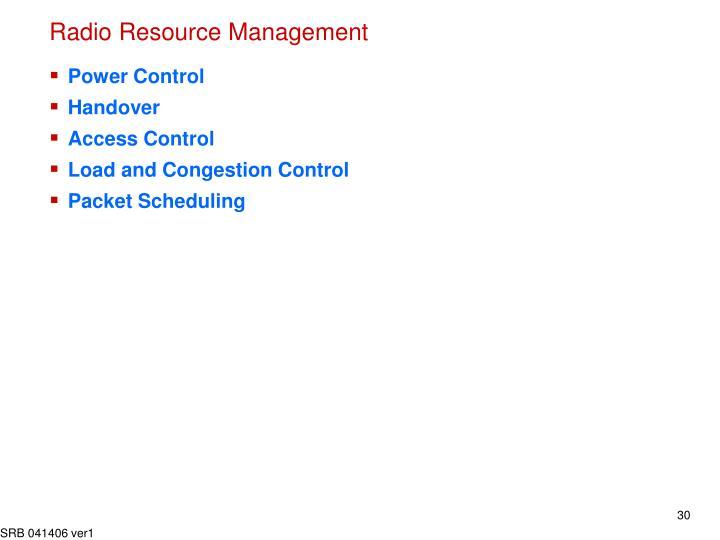 Radio Resource Management