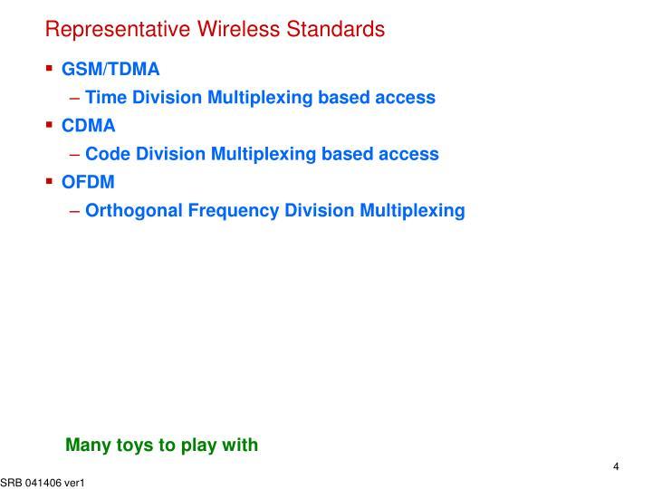 Representative Wireless Standards