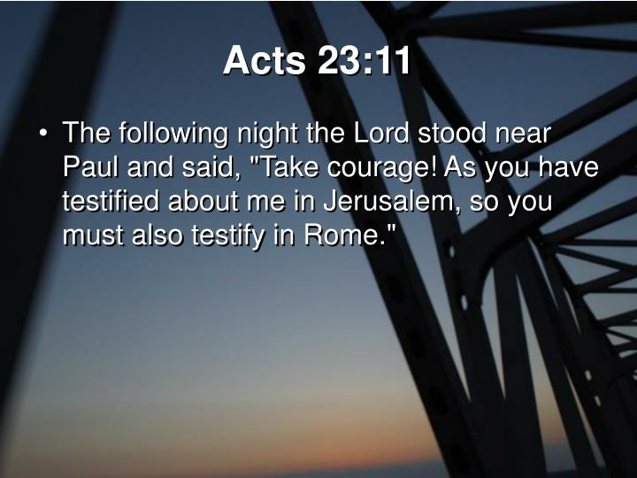 Acts 23:11