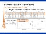 summarization algorithms